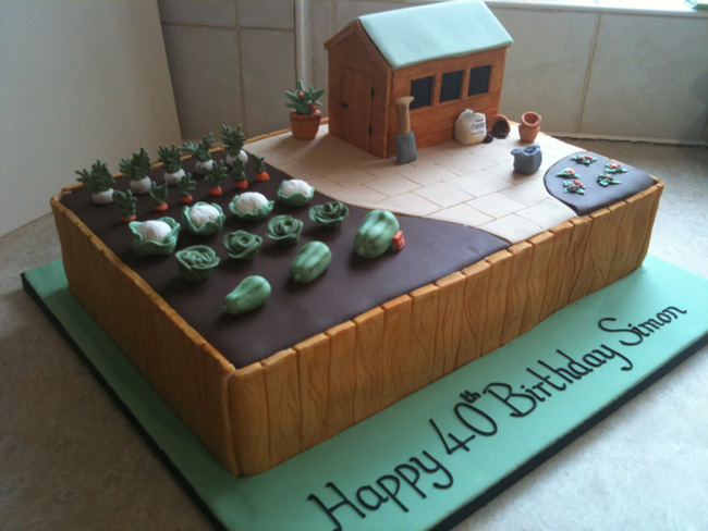 Gardening Allotment Cake Cake Ideas and Designs